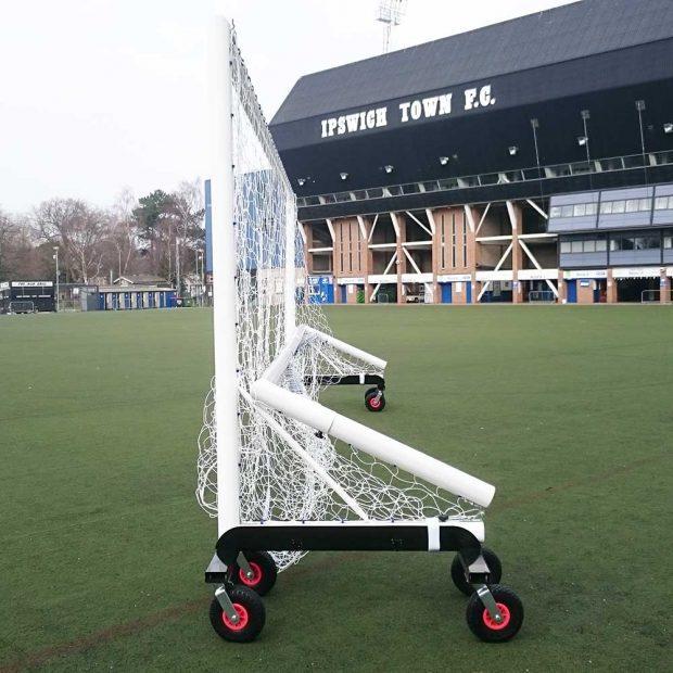 Folding Football Top Flight Training Aluminium Freestanding 24 x 8 Goal Package