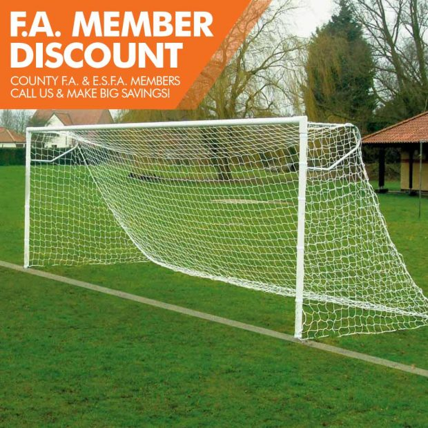 FOT-500 EXTRA HEAVY DUTY STEEL SOCKETED 24X8 FOOTBALL GOAL PACKAGE