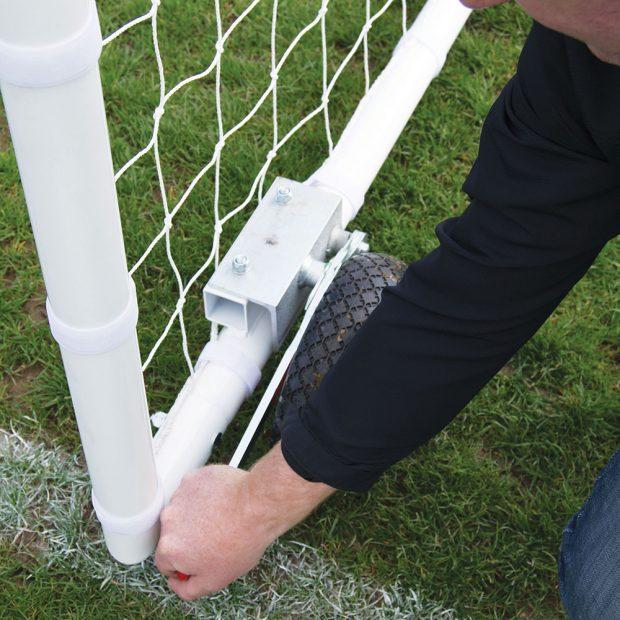 60mm Heavy Duty Easy Lift Freestanding 12 x 6 Football Goal Package