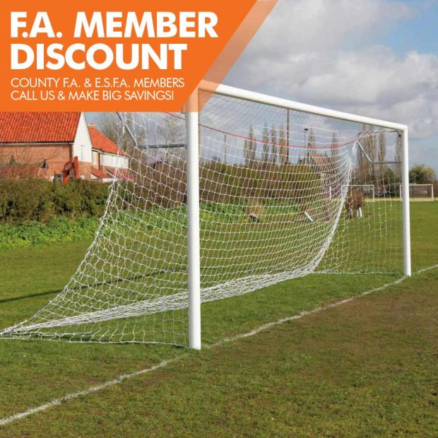 FOT-752A PREMIUM QUICK RELEASE ALUMINIUM SOCKETED 21X7 FOOTBALL GOAL PACKAGE