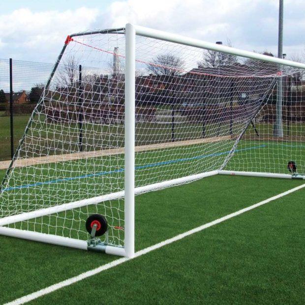 Self Weighted Roller Bar Aluminium 24x8 Football Goal Package
