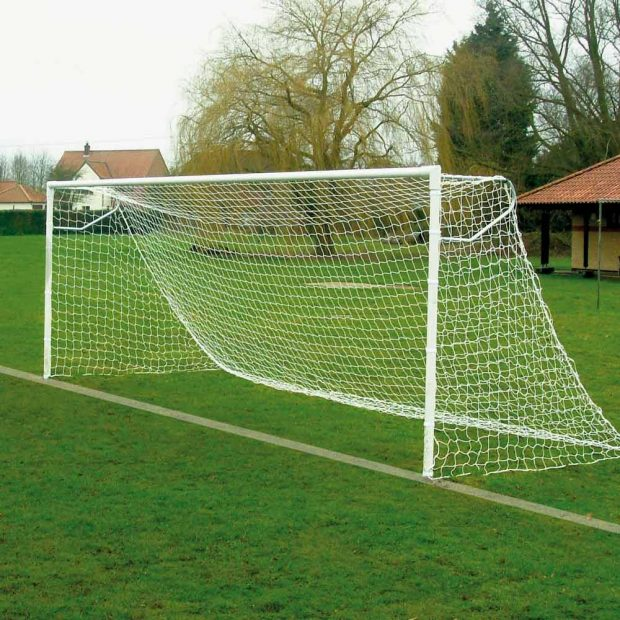 Extra Heavy Duty Steel Socketed Football Goal Package