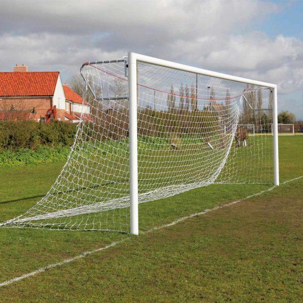 Premium Quick Release Aluminium Socketed Football Goal Package