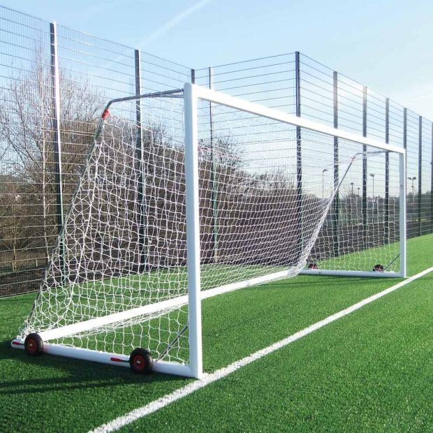 EasyLift Aluminium Freestanding Football Goal Package