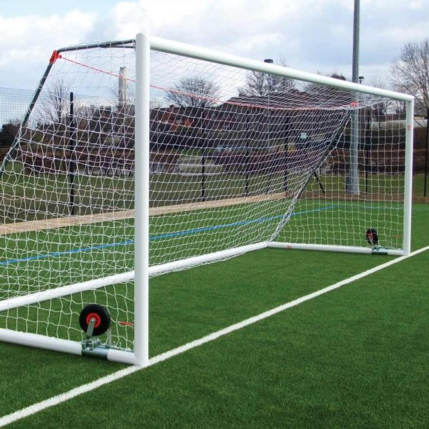 Self Weighted Roller Bar Aluminium Football Goal Package