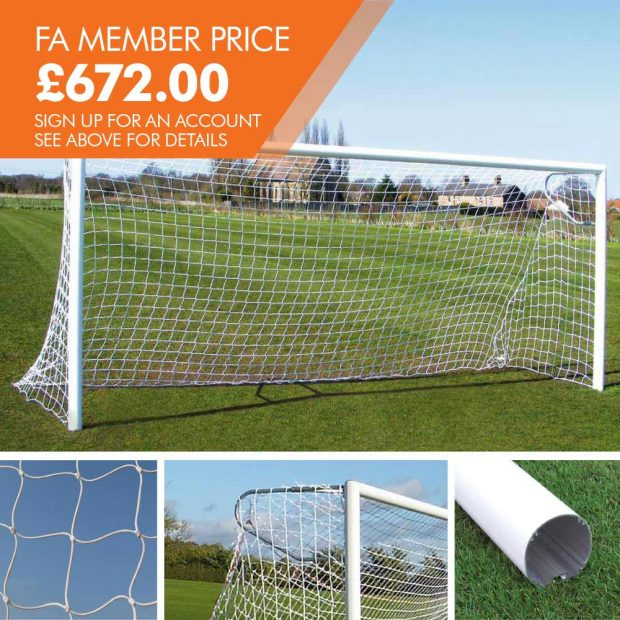 FOT-525 16 X 7 ALUMINIUM STANDARD SOCKETED GOAL PACKAGE