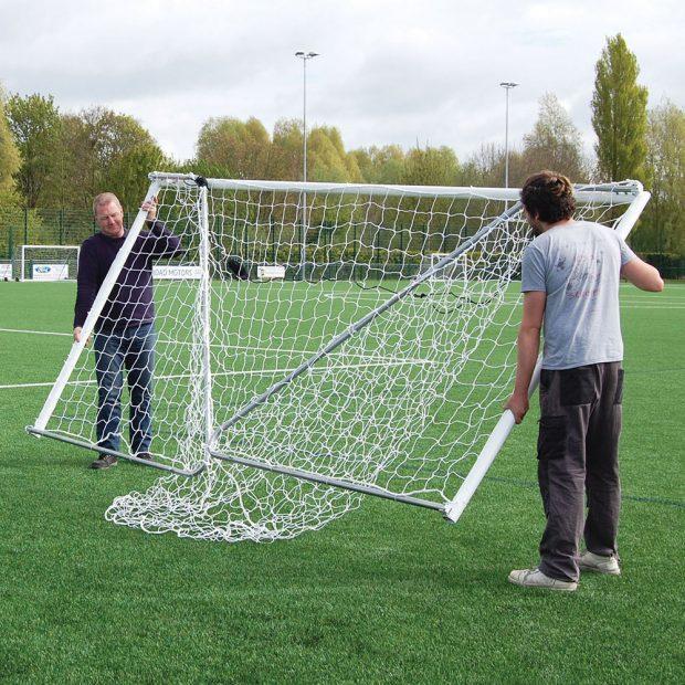 Heavy Duty Folding 16 x 6 Football Goal Package - Folded