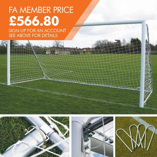 FOT-533 12 X 6 FOLDING FOOTBALL GOAL PACKAGE WITH U-PEGS