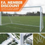 FOT-533 12X6 FOLDING FOOTBALL GOAL PACKAGE WITH U PEGS