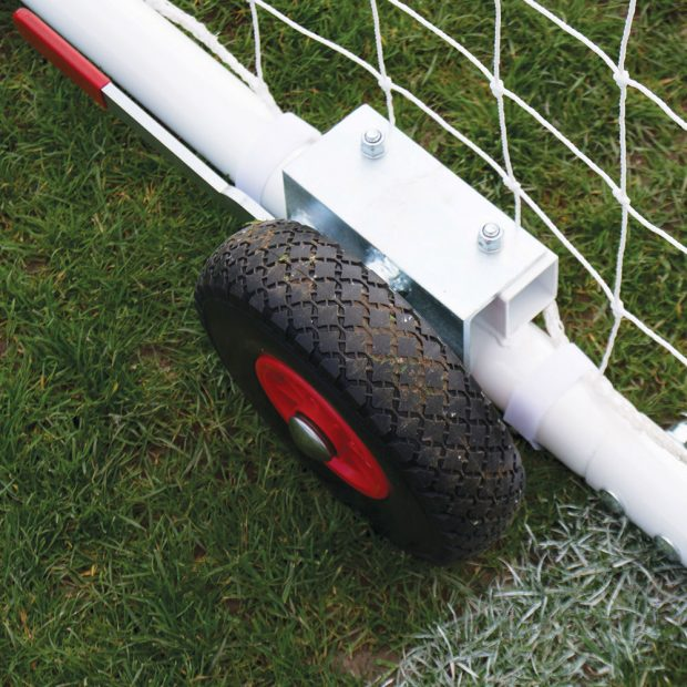 Heavy Duty EasyLift Steel Freestanding Football Goal Package Wheel