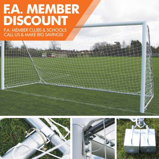 Mark Harrod Ltd Aluminium Folding side Football Goal Package with counterweights