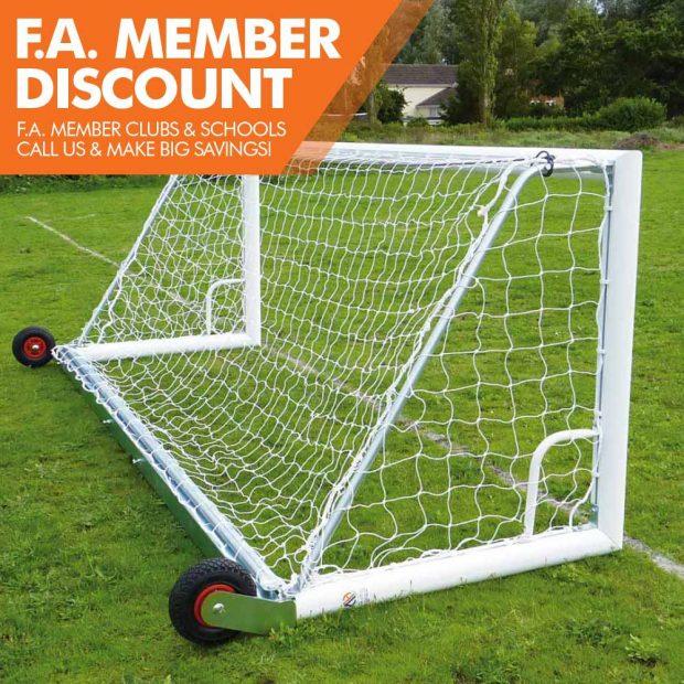 Mark Harrod Ltd Wheeled back bar Football Goal Package