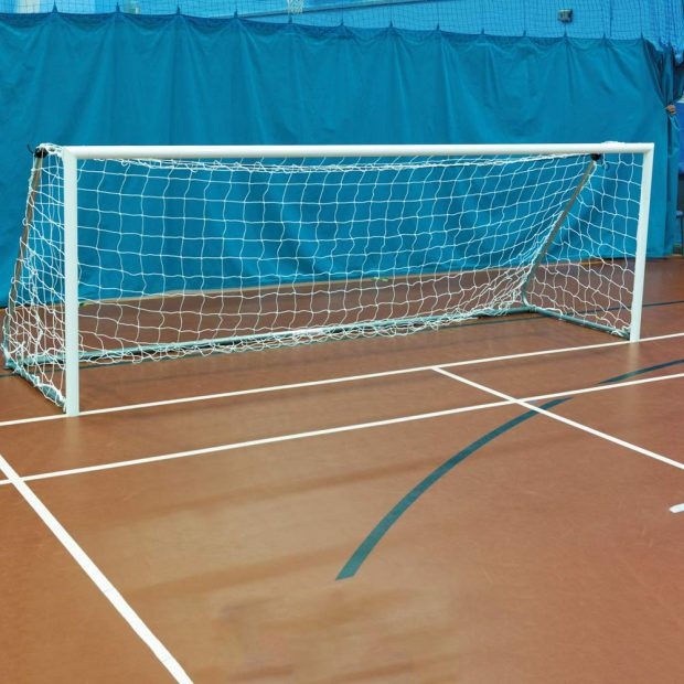 60mm Lightweight Aluminium 12 x 4 Indoor Football Goal