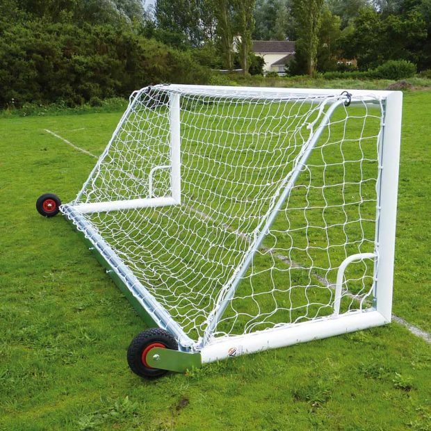 Self Weighted Wheeled Back Bar Football Goal