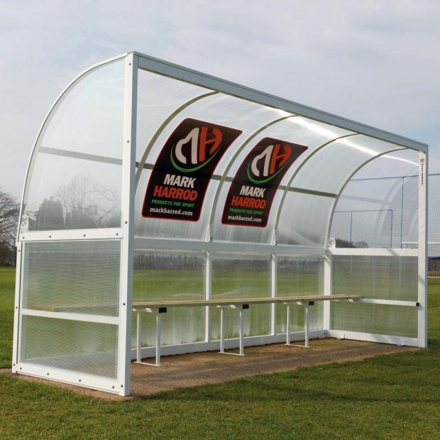 Mark Harrod Aluminium Team Shelter With Wooden Seating
