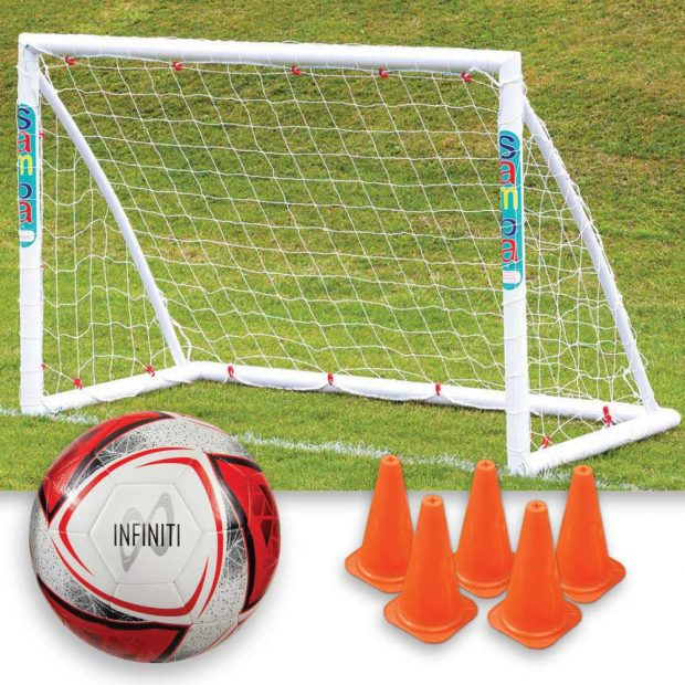 Samba starter set 6 x4 goal plus Infiniti Football