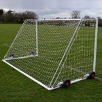 60mm Heavy Duty Easy Lift Freestanding 12 x 6 Football Goal rear