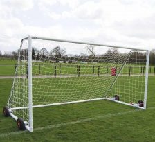Heavy duty easy lift freestanding 12x6 football goal package