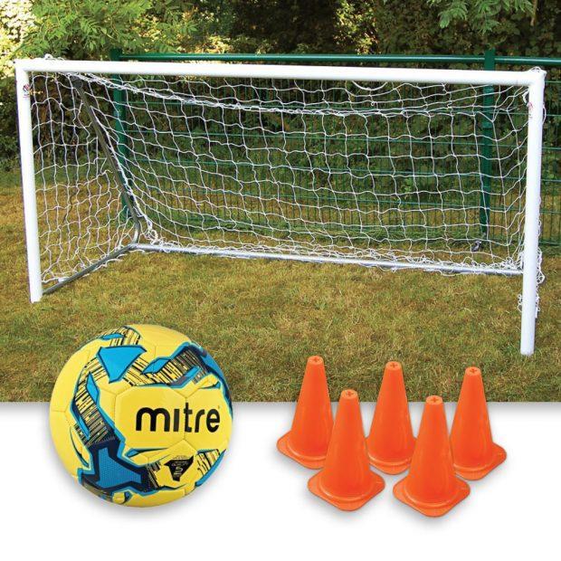 8 x 4 Garden Goal Mitre Ball Package