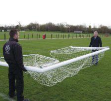 Folding Football Goals Package Moving