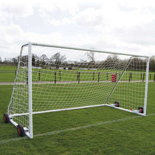 Heavy Duty EasyLift Steel Freestanding Football Goal Package 3