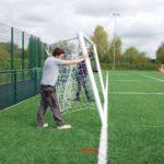 Premium Aluminium Quick Release Football Goal Package