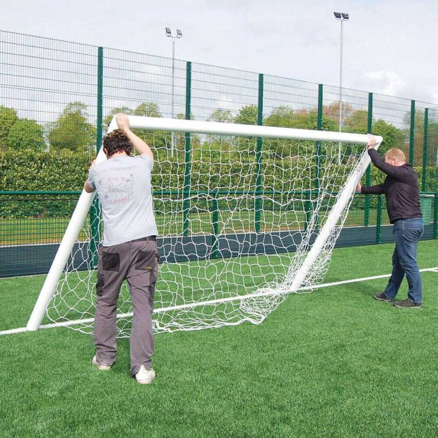 Quick Release Aluminium Socketed Football Goal Package
