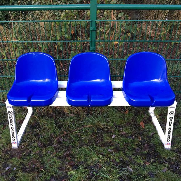 3 Seat Subs Bench & Sin Bin blue
