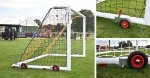 DevoLift Portable Wheeled Football Goal