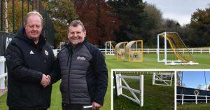 Wayne Lumbard and Sean Wallett at Wolves Sir Jack Hayward Training Ground
