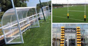 Mark Harrod Ltd sports equipment at Stafford Rugby Club