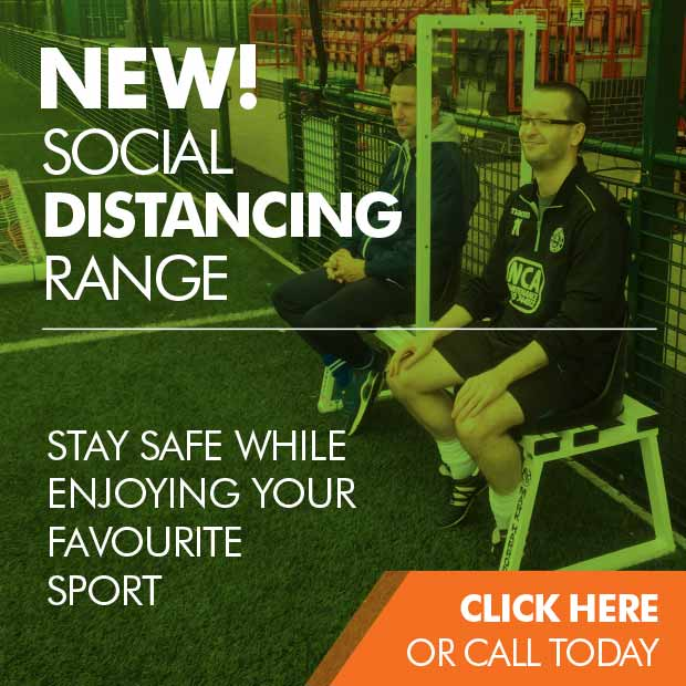 Social distancing sports equipment range